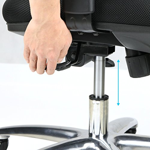 Duramont Ergonomic Adjustable Office Chair with Lumbar Support and Rollerblade Wheels - High Back with Breathable Mesh - Thick Seat Cushion - Adjustable Head & Arm Rests, Seat Height - Reclines by Duramont (Image #6)