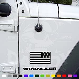 American USA Flag Wrangler Jeep Stickers