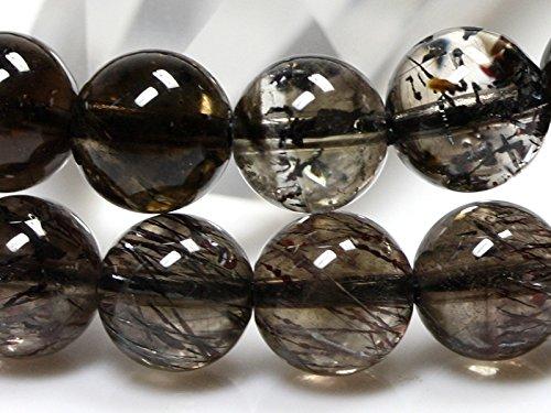 【石流通センター】☆高品質☆【ブレスレット】ブラックスーパーセブン (5A) (マダガスカル産) (約6.5~7mm) 天然石 パワーストーン B0792W2523