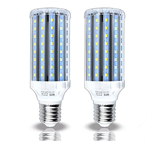 Luxvista Led Corn Light Bulb 35W Mogul Screw Base E39/40 Daylight 6000K Working Light CFL Replacement, 2-pack (Remove or Bypass Ballast)