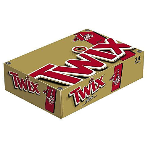 TWIX--Sharing Size Candy Bars--Classic Caramel Chocolate Cookie Bar Candy--Crunchy--24-3.02oz. Bars -