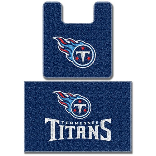 Tennessee Titans Mat (Officially Licensed NFL Tennessee Titans 2-Piece Bath Mat Set)