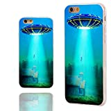iPhone 6s Case,iPhone 6 Case,Case for iPhone 6 6s 4.7 Inch,ChiChiC [Cute Series] Full Protective Slim Flexible Durable Soft TPU Cases, blue flying saucer ufo ET
