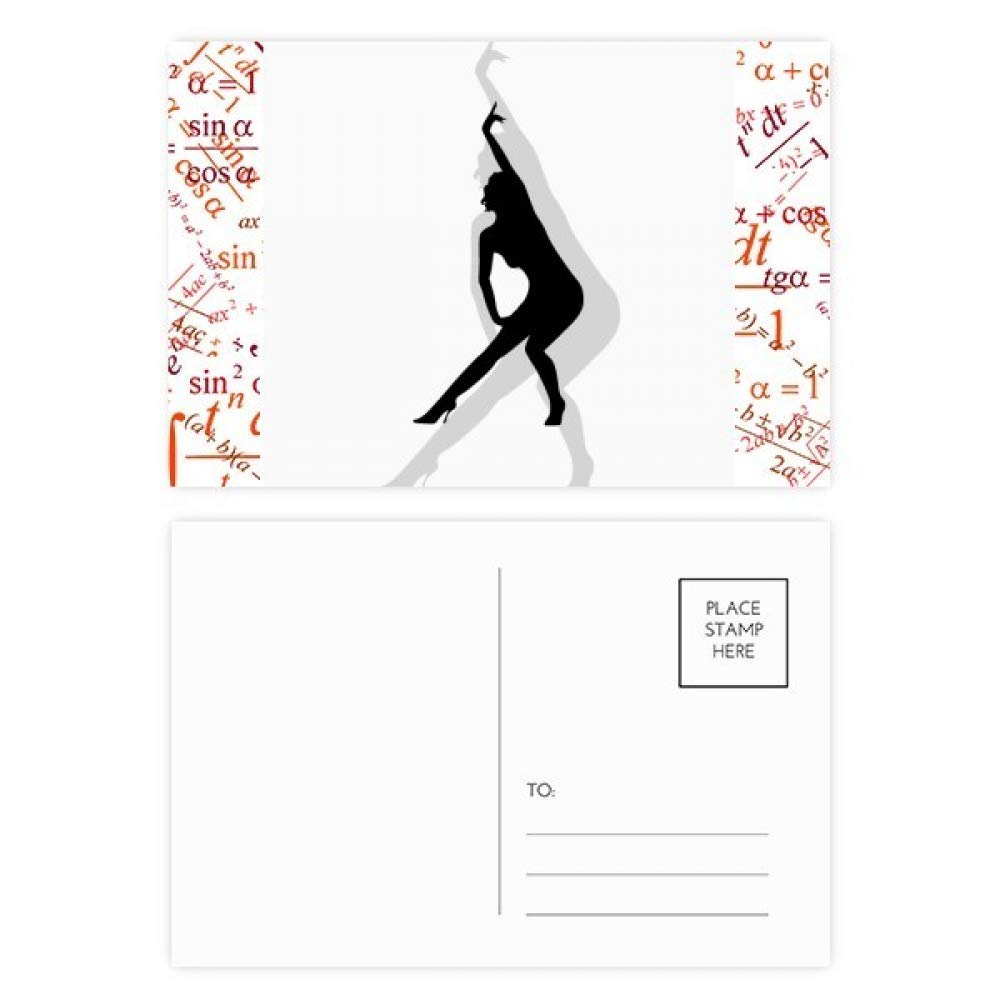 Amazon.com : Yoga Hot Beautiful Woman Formula Postcard Set ...