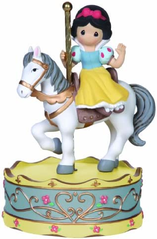 Precious Moments, Disney Showcase Collection, Girl As Snow White On Carousel Horse, Resin Music Box, 141108