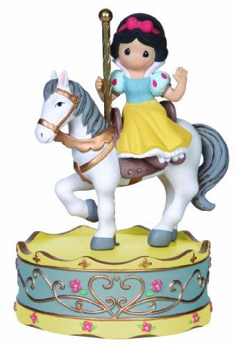 Resin Music Box (Precious Moments, Disney Showcase Collection, Girl As Snow White On Carousel Horse, Resin Music Box, 141108)