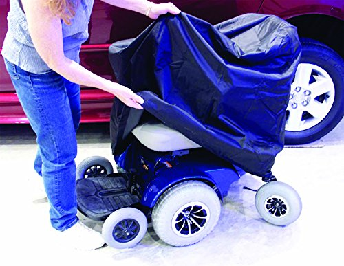 EZ-ACCESS Accessories, Power Chair Cover (3.25 lbs), Protect Your Power Wheelchair From Sun, Dust, and Mildew while In Storage Or Travel, Water Resistant, Includes Stuff Case, Tie Down ()
