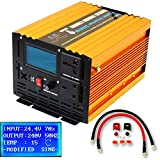 YQX 2000W/4000W(Peak) DC24V TO AC240V INTELLIGENT MODIFIED SINE WAVE POWER INVERTER WITH LCD DISPLAY SOFT START FOR TRUCK LORRY MICROWAVE