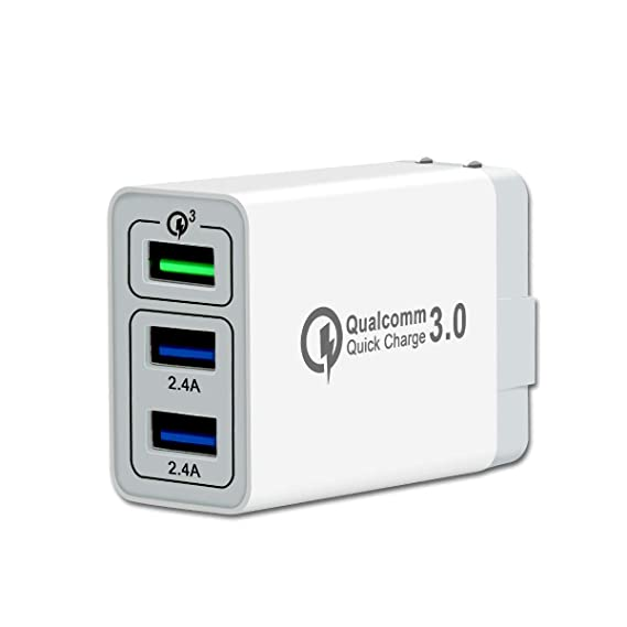 new product c73f1 cb839 Gkede QC3.0 Fast Wall Charger,3 Ports USB Travel Quick Charger AC Power  Adapter for Tablet iPad Phone and Fast Charging Block Plug Compatible with  ...