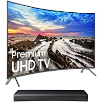 Samsung UN55MU8500 55 Curved 4K UHD Smart TV with UBD-M9500 4K Ultra HD Blu-ray Player