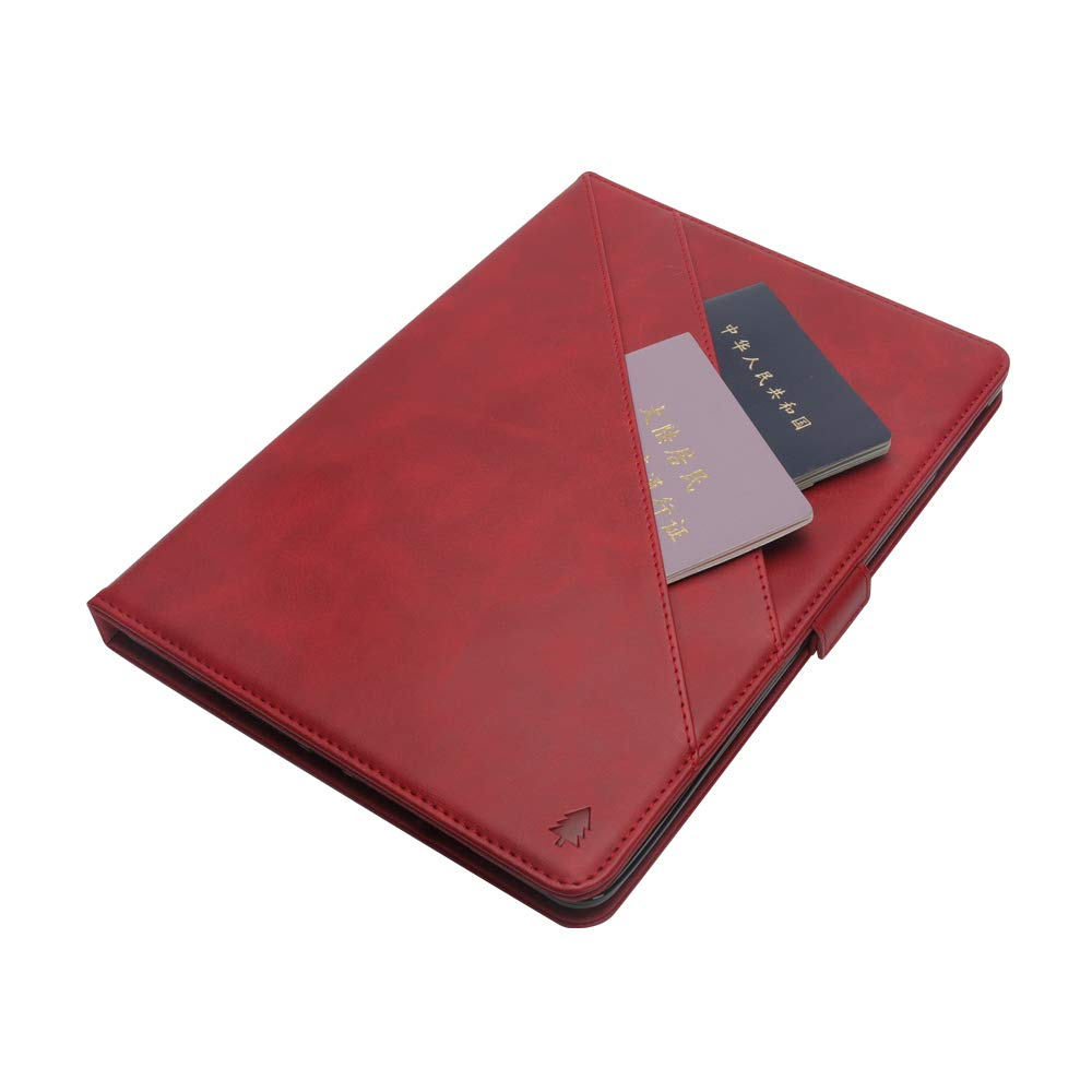 iPad 10.5 Air 3rd Generation Case, taStone Premium PU Leather Business Folio Cover Stand Case with Card Holder Auto Wake/Sleep Document Pocket for iPad Air 3rd Gen 2019 / iPad Pro 10.5'',Red by US taStone (Image #7)