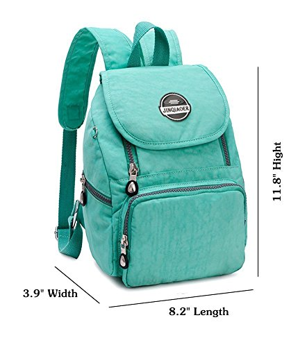 Daypack Green for Bag Backpack Waterproof Girls Travel Echofun Casual Nylon Womens Rucksack Mini Shoulderbag OWZ6gqnZ