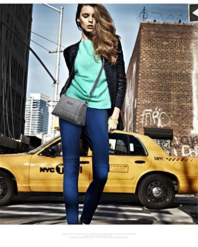 Borsa Spalla Alta Quadrato Qualità Shopping A Rigide Pelle Particolari Offerta Piccole Donna Grigio Mano Urbanistic Borse nbsp;tracolla Moodn Eleganti Borsa BX8OFaq