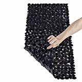 Vndaxau Non Slip Bath Mat Anti Bacterial Washable for Tub, Shower Mats Pebbles Slip Resistant with Powerful Gripping Suction Cups