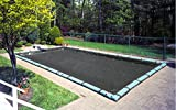 Buffalo Blizzard Micro Mesh Black Winter Cover for 12-Foot-by-24-Foot Rectangle Swimming Pools | 5-Foot Additional Material | Allows Rain or Melted Snow to Pass Through | Leaving Debris Behind