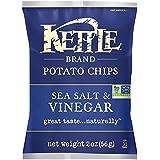 Kettle Brand Potato Chips, Sea Salt & Vinegar, 2 Ounce Bags (Pack of 24)