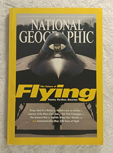 The Future of Flying: Faster, Farther, Smarter - Stealth Fighter, the F/A-22 Raptor - National Geographic Magazine - December 2003 - Commemorative Map: 100 Years of Flight