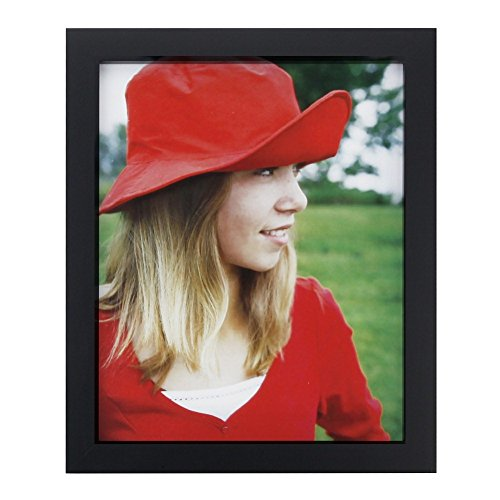 (RPJC 8x10 Picture Frames Made of Solid Wood High Definition Glass for Table Top Display and Wall mounting photo frame Black)