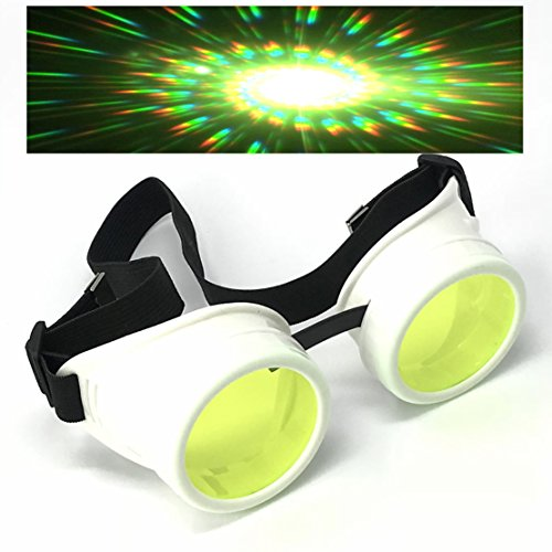 UV Glow in The Dark Steampunk Rave Goggles