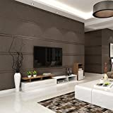 Wallpaper ,Modern Minimalist Velvet Marble Striped Non-Woven Wall Paper,Coverage Area 57(Sq Ft) , A