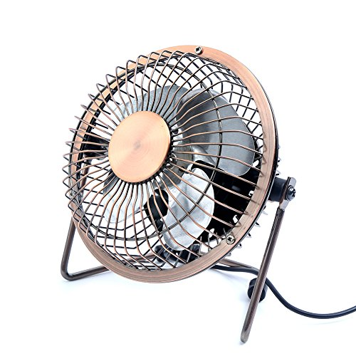 Table Fan Switches : Honeyall adjustable usb desk fan metal archaistic
