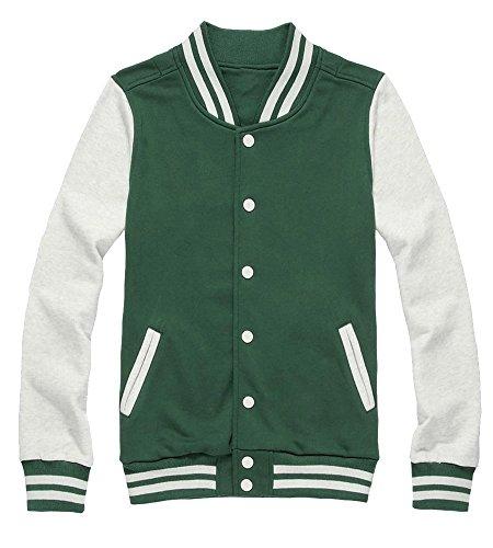 Kmety Men's Slim Fit Cotton Varsity Baseball Bomber Jacket Of Various Styles