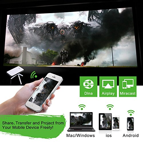 OVTECH Mini Smart Projector Android 4.4 Quad Core Portable DLP 8G with HDMI USB Speaker Bluetooth 4.0 Support Web Browser Netflix Youtobe EShare Function by OVTECH (Image #3)