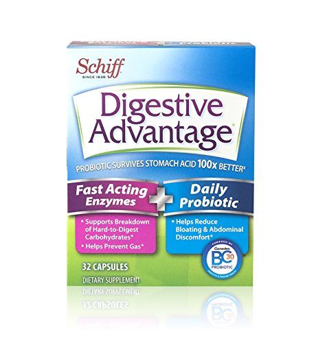 Digestive Advantage Fast Acting Enzymes Plus Daily Probiotic Capsules