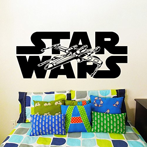 Exceptional Wall Decals Star Wars Logo Xwing X Wing Fighter X Wing Children Nursery Room  Bedroom Part 5