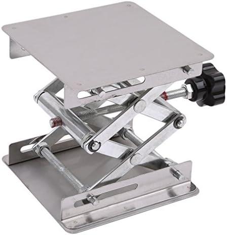 LnLyin 10,2 cm Edelstahl-Laborständer Tisch-Scherenheber Labor Jiffy Jack 100 x 100 mm