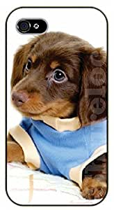iPhone 6 Case Brown dog in blue shirt - black plastic case / dog, animals, dogs