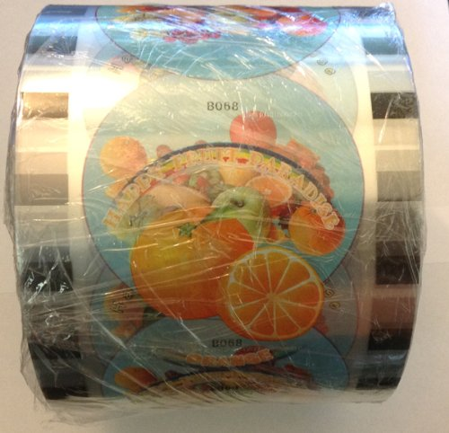 1 Roll BOBA BUBBLE TEA CUP SEAL ROLL FILM SEALS @ 2600 CUPS,printed,nice design by machineforfood
