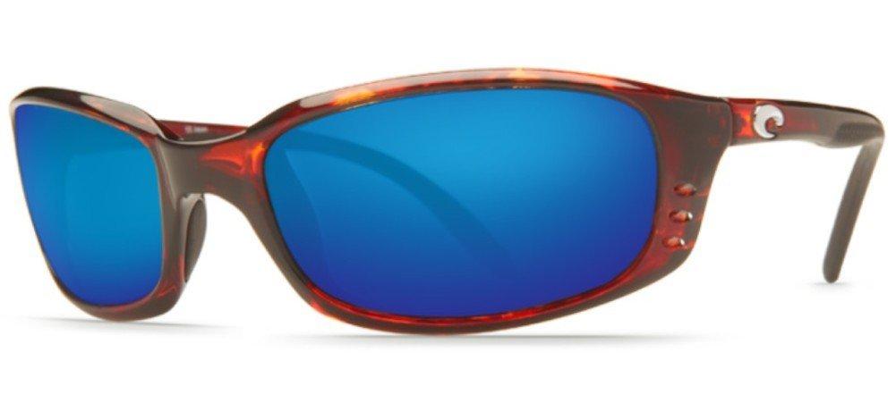 Costa Del Mar Brine Sunglasses, Tortoise, Blue Mirror 580Plastic Lens by Costa Del Mar