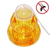NANSI Outdoor Wasp Trap - Pest Control Repellent for Hornets, Yellow Jackets Catcher. Garden Yard Plastic Honey Bee Trap
