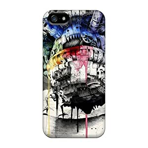 Protector Cell-phone Hard Covers For Iphone 5/5s (XtP1217bHEW) Customized Attractive Howls Moving Castle Skin