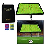 OFKPO Foldable Football Coach Magnetic Board With Pen Dry Erase Soccer Teaching Clip Coaching Clipboard Foldable and Portable Coach Tool
