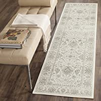 Safavieh Persian Garden Collection PEG607E Traditional Ivory and Silver Viscose Runner (22 x 8)