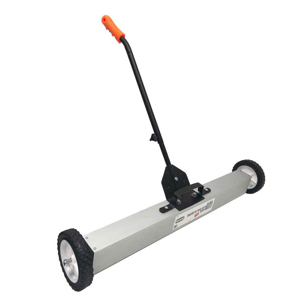 MMG 36'' Magnetic Pick-Up Sweeper Retrieves Nails, Screw and All Ferrous Metal Objects Up To 30lbs | Adjustable''Telescopic'' Handle | Quick-release handle to remove all attached objects