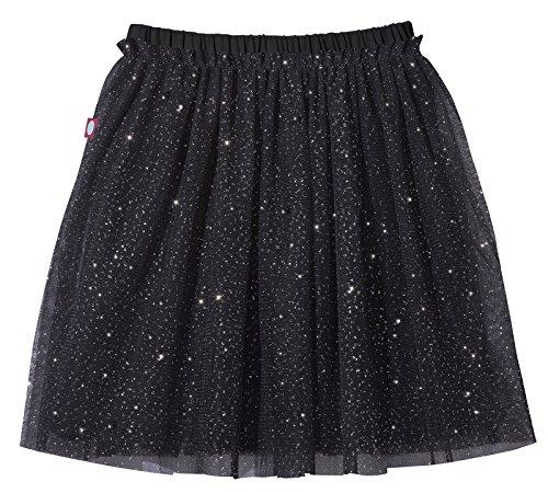 City Threads Girls Tutu Skirt Sparkle Tulle Bubble Mesh Skirt Princess Ballerina Play Sundress Summer Dance Soft Cotton Ballet Party Dress, Black, 12 ()