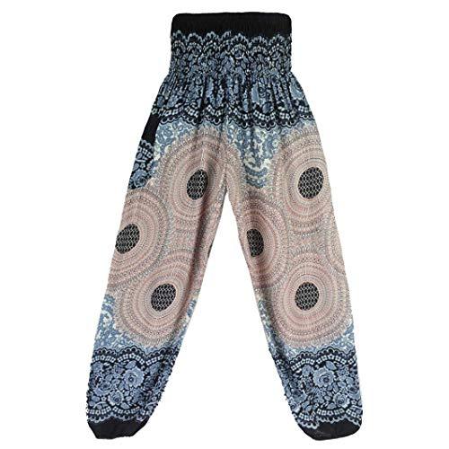 Vrac Pantalon Boho Taille Survêtement Yoga En Thaïlandais Sarem Haute De Hippie Fuxitoggo Imprimé Pantalons Festival CqpxI