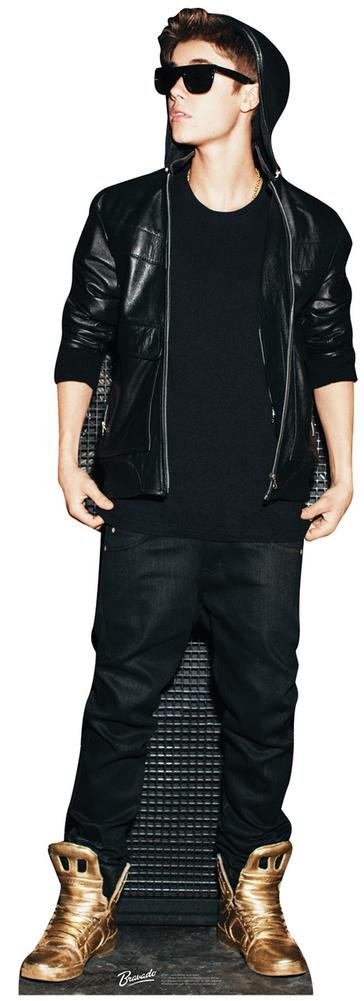 Justin Bieber Gold Shoes Lifesize Standup Poster Cardboard Cutouts 24 x 70in