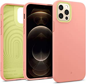 Caseology Nano Pop Silicone Case Compatible with iPhone 12 Pro Case Compatible with iPhone 12 Case (2020) - Peach Pink