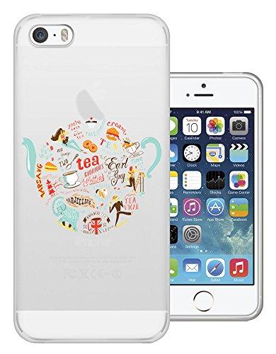 C0425 - Cool Fun Trendy Cute Kawaii Tea Coffee Cream Tea English Design iphone 6 6S 4.7'' Fashion Trend Protecteur Coque Gel Rubber Silicone protection Case Coque