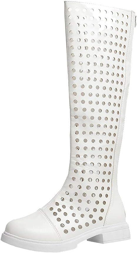 Dreamyth-Shoes Botas Altas de Verano para Mujer, con Agujeros, Transpirables, Informales: Amazon.es: Deportes y aire libre