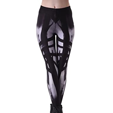 XueXian(TM) Yoga Leggings Digital Print Muster Damen Workout Fitness ...