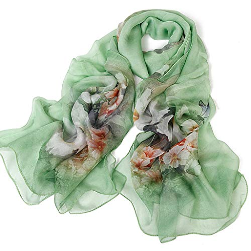 - Beach Towel 100% Silk Scarf Flower Thin Section Female Mulberry Silk Scarf Sunscreen Shawl Air Conditioning Shawl Autumn Winter Cold, More Design Optional (Design : L)