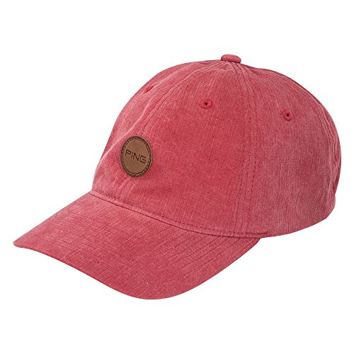 new-2016-ping-fairway-adjustable-leather-patch-red-hat-cap