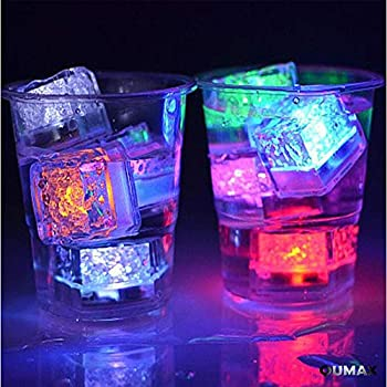 Amazon Com 12 Pack Multi Color Flash Led Ice Cube Water