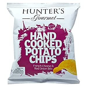 Hunter's Gourmet Hand Cooked Potato Chips French Cheese & Red Onion Bits - 40 gm