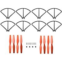 "Force1 Phoenix Drone Replacement Parts - ""Crash Pack"" Includes 4 Propellers with Caps 8 Propeller Guards and 8 Screws for Force1 F111 Phoenix Foldable Quadcopter Drone"